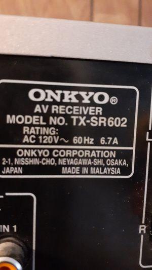 ONKYO Receiver Model #TX-SR602 for Sale in Apache Junction, AZ