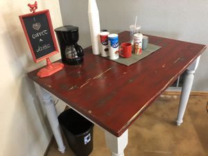 Farmhouse style weathered bar height table. for Sale in Sun City, TX