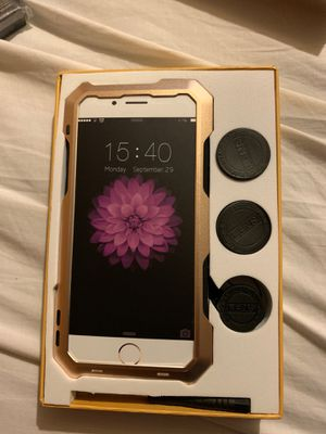 iPhone 7/8 Aluminum case with Lens attachments for Sale in Detroit, MI