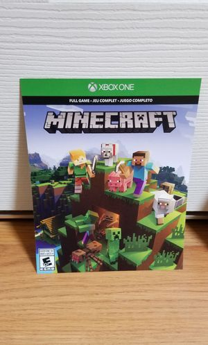 MINECRAFT DOWNLOAD CODE - XBOX ONE, FIRM PRICE, TRADE FOR RED REDEMPTION II for Sale in Santa Ana, CA