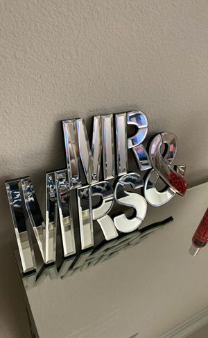 Perfect wedding gift! Wall decor Mr. and Mrs for Sale in Little Elm, TX