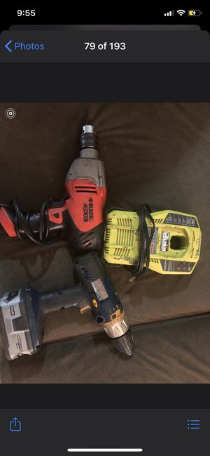 Power tools electric drill for Sale in Beltsville, MD