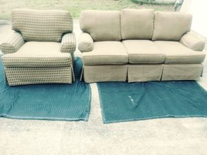 Very nice brown sofa and chair for Sale in Center Point, AL