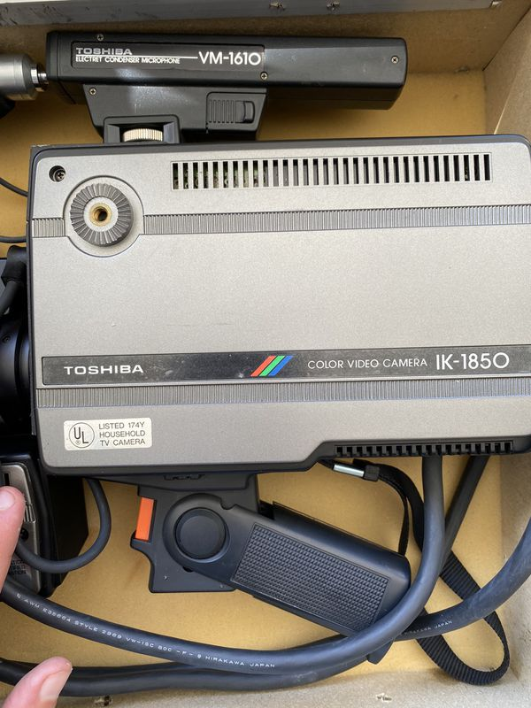 Toshiba Color Video Camera w/ mic and viewfinder