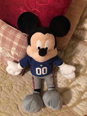 New York Giants Mickey Mouse Stuffed Animal for Sale in Chino Hills, CA