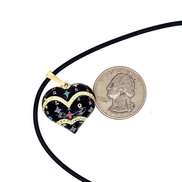 14k Puffy Heart Necklace and Ring Set