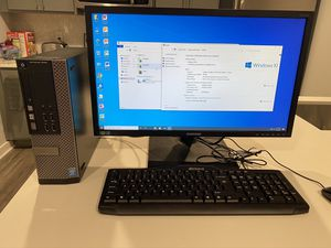 Dell Computer complete system Home School or Work from home ready intel i5 with 24 inch Dell Monitor, Keyboard, Mouse, WIFI ***MAKE OFFER*** for Sale in Dallas, TX