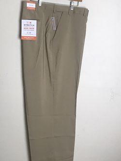 Men's Dress Tan Pants by Van Heusen Flex3 Comfort Size 54 X 32 MSRP $80 for Sale in French Creek,  WV