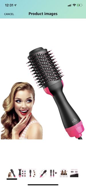 Hair Dryer Brush, Chignon Hot Air Brush with Negative Ion Hair Dryer and Volumizer for Fast Drying, Straightening, Curling for Sale in Brooklyn, NY