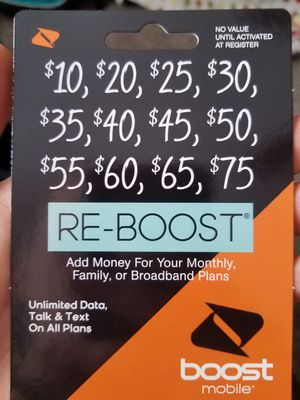 25$ prepaid boost mobile card for Sale in St Louis, MO