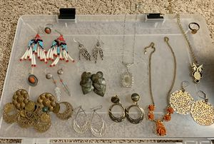 Set of Vintage Jewelry, Antique Keys, Jewelry Making Supplies for Sale in Stallings, NC