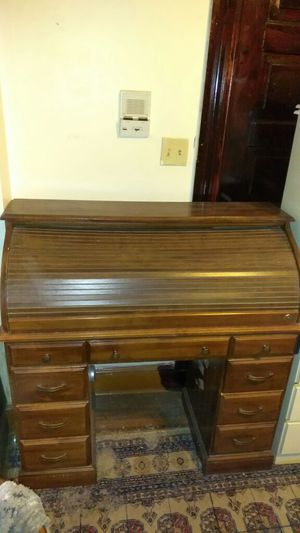 Classic Rolltop Desk. Real Wood. Lights Inside, Plenty of compartments and drawers for storage for Sale in Baltimore, MD