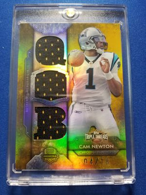 Topps Triple Threads jersey card Cam Newton /18!!! for Sale in Sun City, AZ