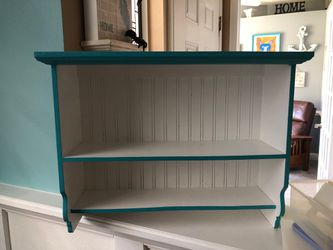 Small wall shelf - teal and white for Sale in New Port Richey,  FL