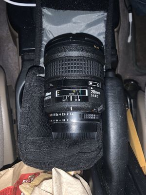 Nikon nikkor 28mm 1.4 manual focus lense for Sale in Santa Clarita, CA