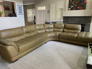 FREE Leather (Faux) Sectional Couch for Sale in Laguna Beach, CA