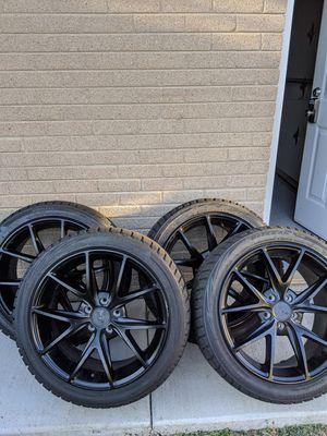 """18"""" Niche Misano rims w/ Bridgestone Blizzak WS80 tires for Sale in Niles, IL"""