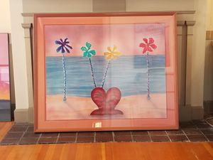 "Framed ""Hearts of Palm"" by D.G. Smith 