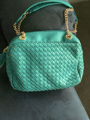 Teal Shoulder Bag with Faux Gold Chain Straps for Sale in Silver Spring, MD