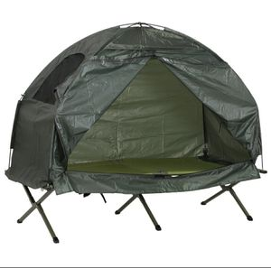 Single-Person Compact Pop Up Portable Folding Outdoor Elevated Camping Cot Tent Combo Set for Sale in Los Angeles, CA