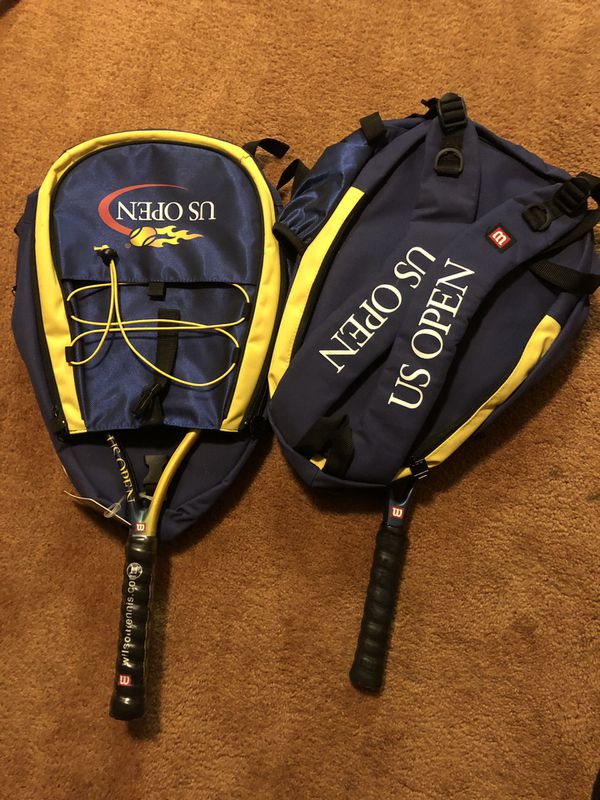 Tennis Rackets and Backpacks