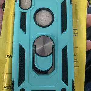 iPhone X / Xs Blue And Black Protective Case Work Kickstand for Sale in Bakersfield, CA