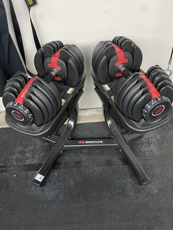 Bowflex Adjustable Dumbells 5-52.5 with stand. for Sale in Vallejo,  CA