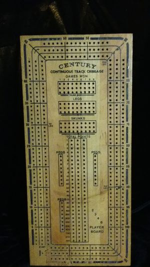 Vintage century continuous track maple wood cribbage game board for Sale in Warren, RI