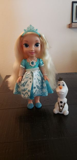 Disney Frozen Snow Glow Elsa Singing Doll for Sale in Haines City, FL
