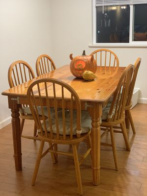 Wood dining table and 6 chairs for Sale in Oakland, CA