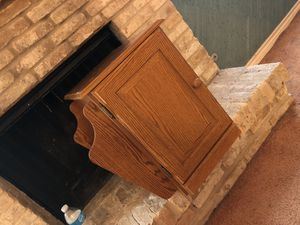 Oak cabinet w/ Magazine Rack (price reduced) for Sale in Houston, TX