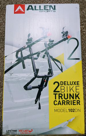 Deluxe Two Bike Trunk Carrier (Car bike rack) for Sale in Tampa, FL