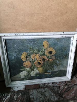 Vintage Framed Floral Print for Sale in Los Angeles, CA