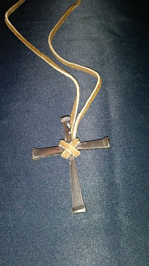 Cross of Nails on Leather Necklace for Sale in Fort Worth, TX