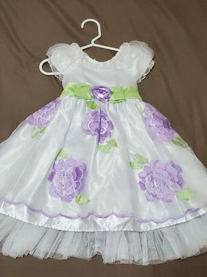 2T girls dress purple and white for Sale in Orlando, FL