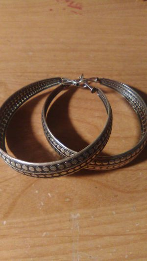Large hoop earrings for Sale in Gresham, OR