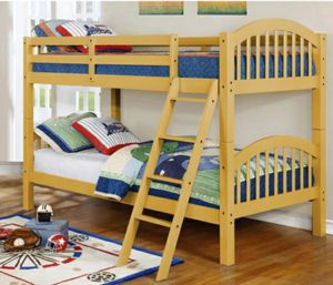 Columbus Day Special- [SPECIAL] Ryder Yellow Twin over Twin Bunk Bed for Sale in Houston, TX