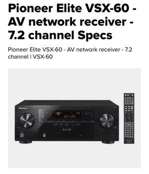 Pioneer Elite VSX-60 - AV network receiver - 7.2 channel for Sale in Cherry Hill, NJ