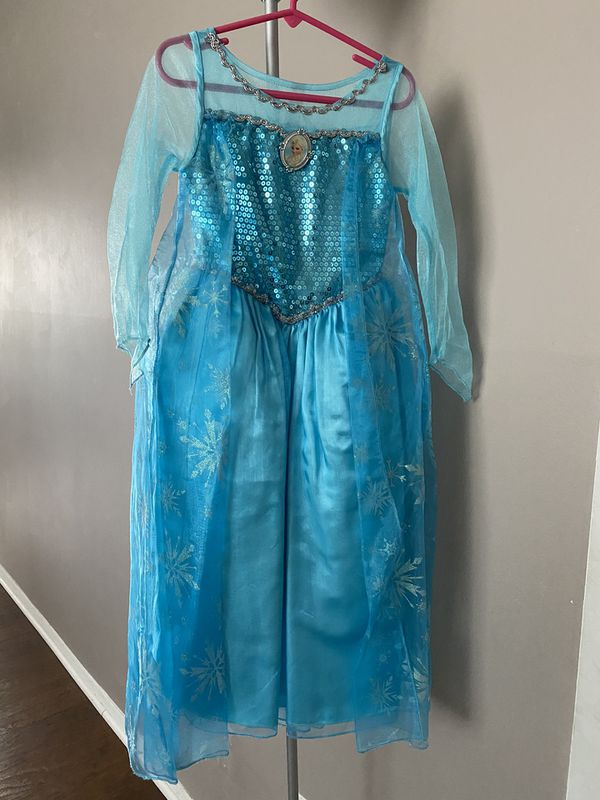 Disney Elsa dress with light up shoes and accessory