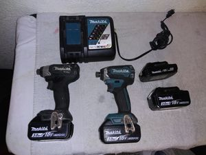 MAKITA BRUSHLESS 18V LITHIUM ION IMPACT DRILLS for Sale in Stockton, CA