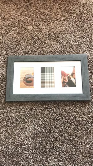 3 photo gray frame Brand New for Sale in Melbourne, FL