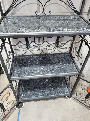 Bakers/wine rack wrought iron for Sale in Newberg, OR