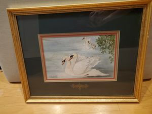 Pair Framed Vintage Paintings for Sale in Washington, DC