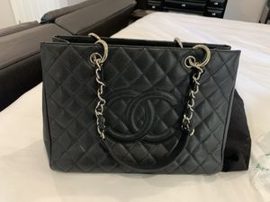 Chanel Grand Shopping Tote Bag Silver Tone for Sale in San Diego, CA