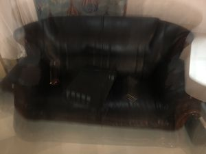 Free faux leather couch and microwave for Sale in Silver Spring, MD