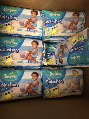 Pampers splashers size small and medium for Sale in Pompano Beach, FL