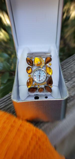 NIB! Sterling w/gems cuff watch! for Sale in Monroe, NC