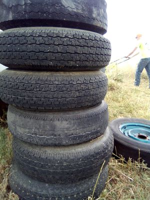 6 wheel and tires trailer 5 lugs for Sale in Northglenn, CO