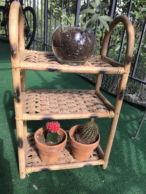 Cute 3 tier braided wooden shelves for Sale in Denver, CO