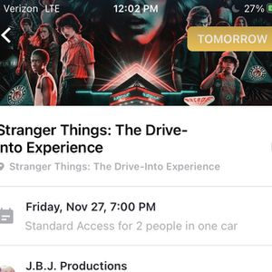 Stranger Things tickets For Two tomorrow for Sale in Los Angeles, CA